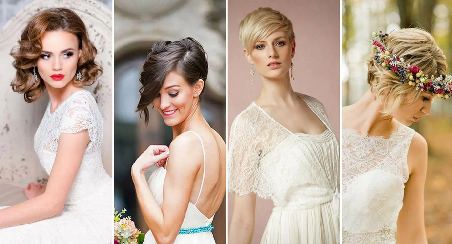 Top Short Bob Hairstyles to Pick For a Wedding3